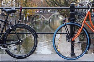 Fietsen op de Utrechtse grachten van Romuald van Velde
