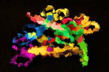 Scharen art oil van Marcel Kieffer