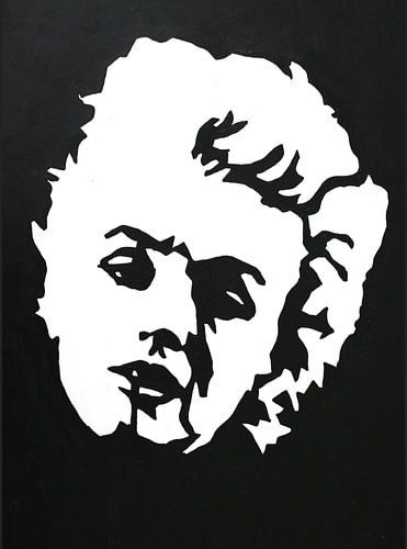Marilyn Black and White van Lucienne van Leijen