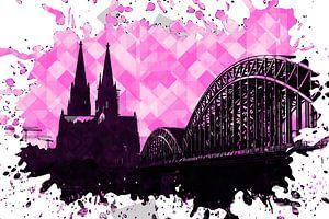 Köln Pop Art pink von Michael Bartsch