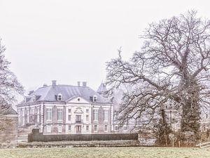 Kasteel Diepenheim op een winterdag.