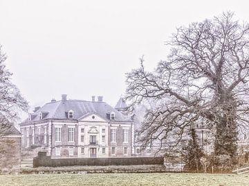 Kasteel Diepenheim op een winterdag van Ron Poot
