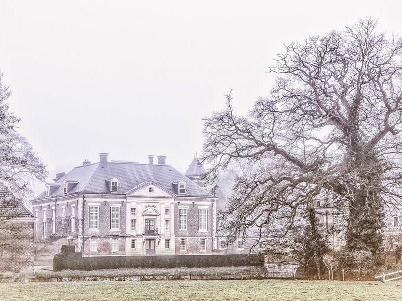 Kasteel Diepenheim op een winterdag