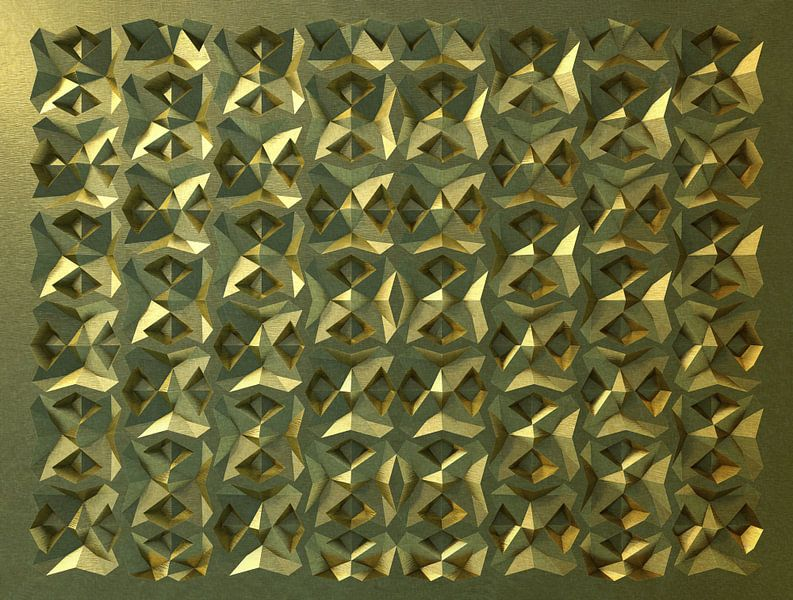 Reliëf E1 Goud van Frans Blok