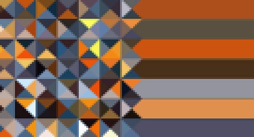 Triangle,Mosaik-Streifen van Marion Tenbergen