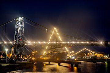 Kaiser Wilhelm-brug in Wilhelmshaven van Rolf Pötsch