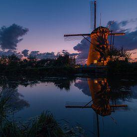 Verlichte molens Kinderdijk van AdV Photography