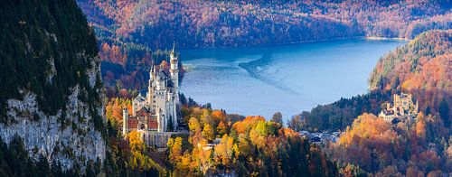 Neuschwanstein and Hohenschwangau Castle. von Henk Meijer Photography