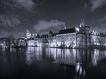 Binnenhof in zwartwit von Esther Seijmonsbergen