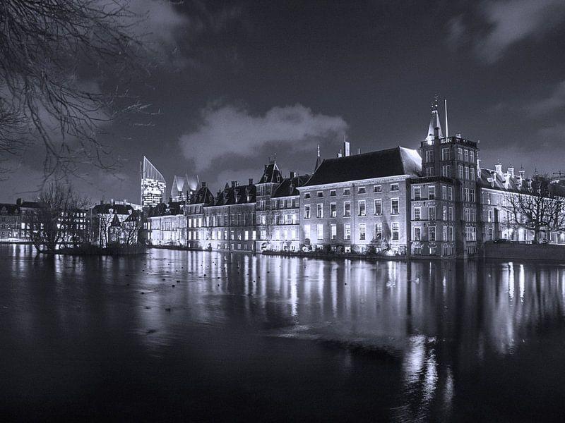 Binnenhof in zwartwit