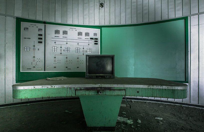 Controlekamer powerplant Urbex van Olivier Van Cauwelaert