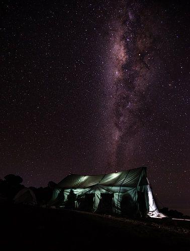 De Melkweg boven Kilimanjaro van Ronne Vinkx