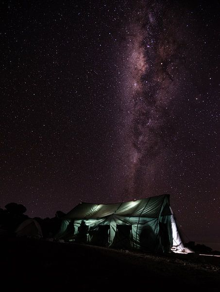 De Melkweg boven Kilimanjaro