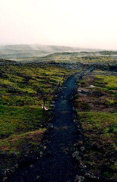 Wandelpad in IJsland van Willem van den Berge