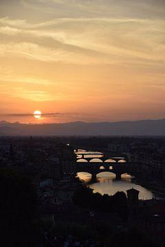 Florence bij zonsondergang van Manon Verijdt
