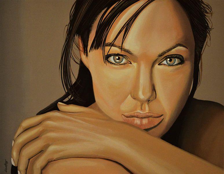 Angelina Jolie Schilderij 2  van Paul Meijering