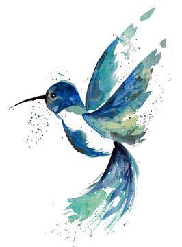 Blauer Kolibri von ZeichenbloQ