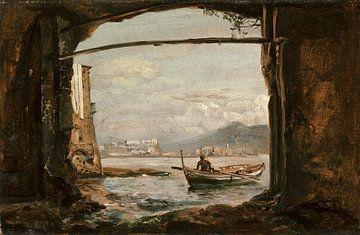 Blick aus einer Grotte bei Posillipo, Johan Christian Dahl
