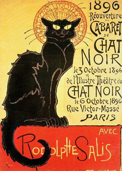 Heropening van de Chat Noir Cabaret, 1896 van Bridgeman Images