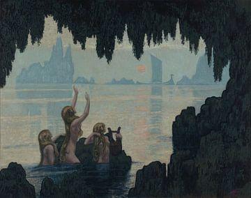 Drei Sirenen singen zu einem Schiff 1912 von Atelier Liesjes