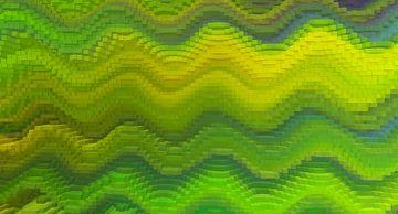 Blocks grün-gelb von Marion Tenbergen