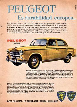 Peugeot 403 reclame van Atelier Liesjes
