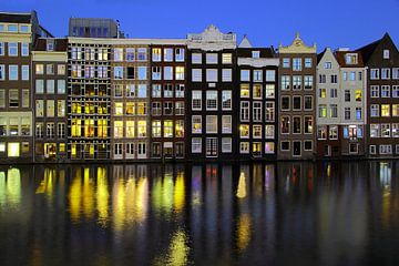 Grachtenhuizen Amsterdam van Patrick Lohmüller