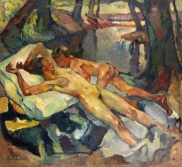 Nudisten an einem Sommertag, LEO PUTZ, 1925