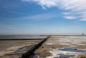AMELAND Zicht op Waddenzee van Paul Veen