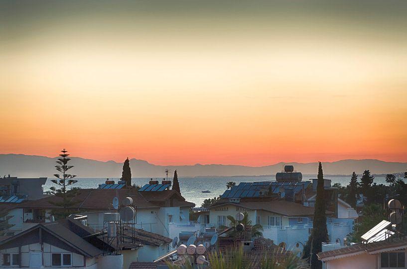Zonsondergang in Turkije van Mark Bolijn