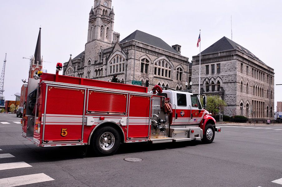 Amerikaanse brandweerauto in Nashville van Arno Wolsink