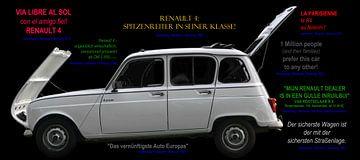Renault 4 mit Werbeslogans seiner Zeit von aRi F. Huber