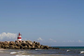 Rood-witte toren op de Pier van