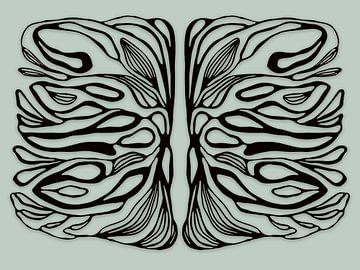 Lebenssymmetrien, schwarz von Cora Verhagen