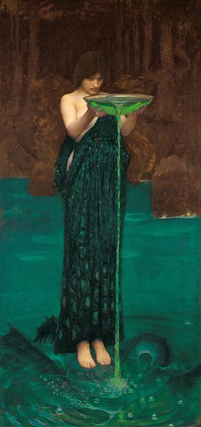 J. W. Waterhouse - Circe Invidiosa van 1000 Schilderijen