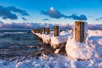 Buhne an der Ostseeküste bei Zingst von Rico Ködder