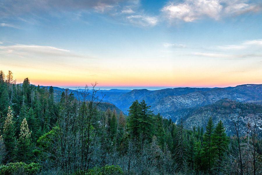 Zonsopkomst in Yosemite