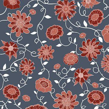 Engeland in bloemen - Klassiek modern patroon van Studio Hinte
