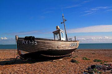 engels vissersbootje van Peet de Mos