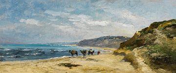 Carlos de Haes Pferde am Meer, Antike Landschaft