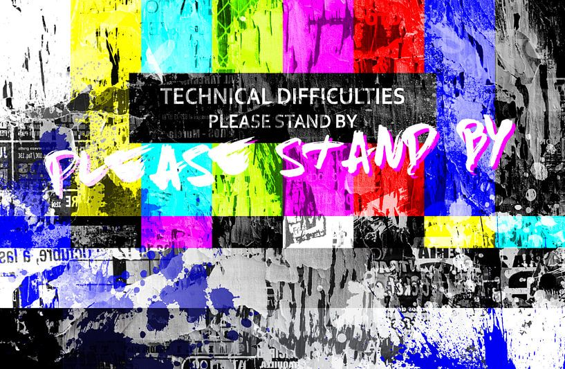 Test kaart – Please stand by! van Sharon Harthoorn