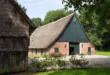 Ancienne ferme avec toit de chaume à Drenthe sur Ger Beekes