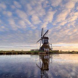 Windmill on Ice von Martijn van der Nat