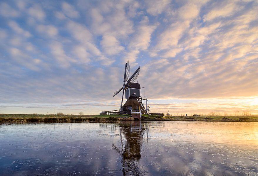 Windmill on Ice van Martijn van der Nat