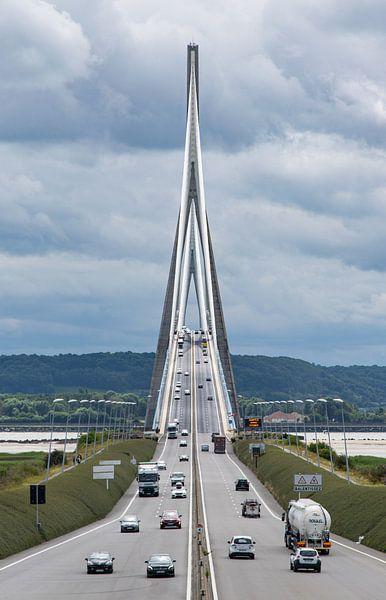 Pont de Normandië Frankrijk van Arno Lambregtse