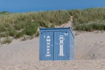 Blaue Strandhütte