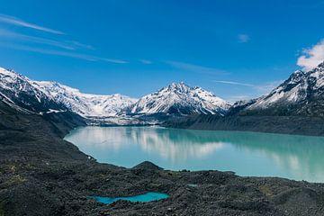 Tasmanischer Gletscher am Mount Cook in Neuseeland von Linda Schouw