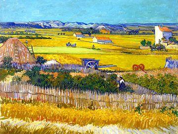 Ernte in La Crau - Vincent van Gogh - 1888 von Jan Willem van Doesburg