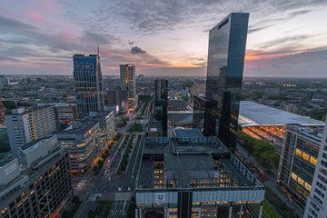 Zonsondergang Rotterdam van