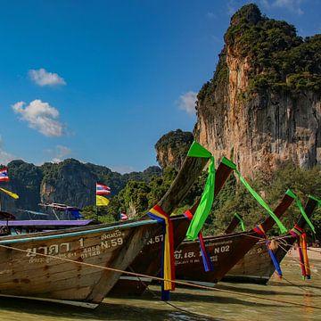 Longtail boten in Thailand van